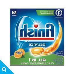 Finish All in 1 Gelpacs Orange, 84ct, Dishwasher Detergent T