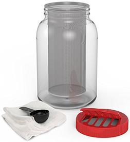 KombuJars 1 One Gallon Jar Cold Brew Coffee Maker Kit Large