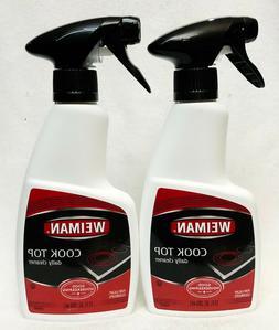 2 Weiman COOK TOP Daily Cleaner Spray Bottle 12 FL OZ