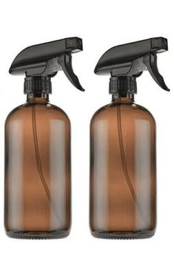 2 Glass Spray Cleaner Bottle Brown Amber Young Living Thieve