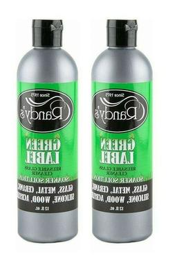 2 Randy's GREEN LABEL 12 OZ Reusable Glass CLEANER Silicone