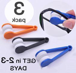 3 PACK Eyeglasses Glasses Cleaner Microfiber Cleaning Brush