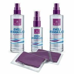 3 Pack Optix 55 Lens Cleaner Spray & Cloth for Glasses Camer