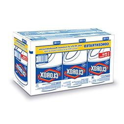 Clorox 30966 Concentrated Regular Bleach, 3 Count 121 Oz.
