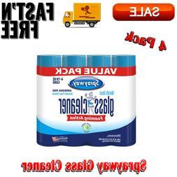 4 Pack Sprayway Glass Cleaner 19 Oz No Ammonia, Clean Fresh