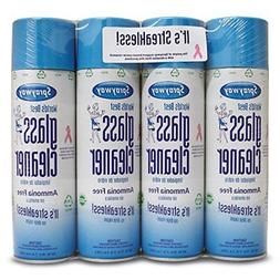 Sprayway 443331 Ammonia Free Glass Cleaner, 19 Oz. 4-Pack Pa