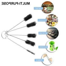 5/10x Glass Tube Cleaning Brush Set Household Bottle Brushes