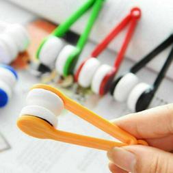 5Pcs Eyeglass Cleaner Microfiber Brush Spectacles Glasses Le