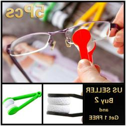 1/5pcs Sun Glasses Eyeglass Cleaner Microfiber Cloth Lens Wi