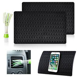 2 Pcs Car Dashboard Premium Anti-Slip Gel Mat with Mini Dust