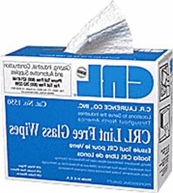 CRL Lint Free Glass Wipes in Pop Up Dispenser Box by CR Laur