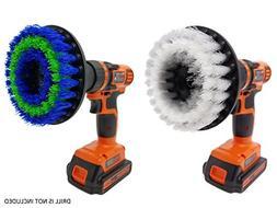 Drill Scrubbing Brush Attachment Set: Beast Brush Spin Power