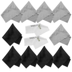 Eco-Fused Microfiber Cleaning Cloths - 10 Cloths and 2 White