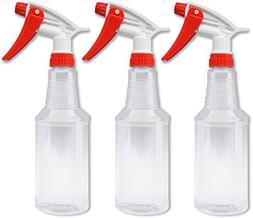 Food Grade Spray Bottle 16 Oz. 3 Pack Value Empty Plastic Sp