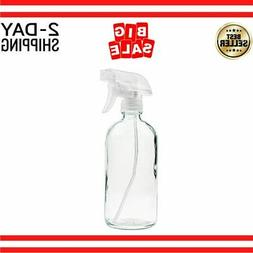 Glass Spray Bottle - Empty Refillable 16 oz Container is Gre