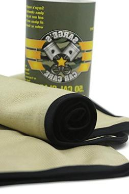 Sarge's Car Care  50 CAL GLASS CLEANING TOWELS - Silk Bound