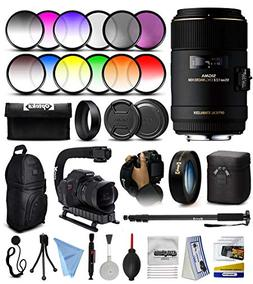 Sigma 105mm f/2.8 EX DG OS HSM Macro Prime Lens with 3pcs Fi