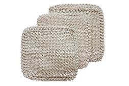 Toockies 100-Percent Organic Cotton Scrub Cloths, Hand Knit,