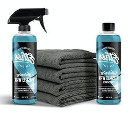 Waterless Wash and Wax Kit, All Natural! with Plush Microfib