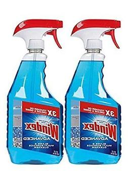 Windex Advanced Glass  Multi Surface Cleaner, 32 Oz, Pack of