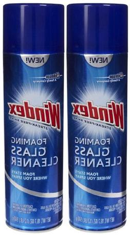 Windex Aerosol Foaming Glass Cleaner - 19.7 oz - 2 pk