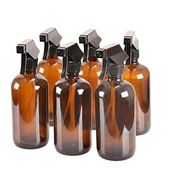 359e66e5b1b 8 oz Amber Glass Spray Bottles with Caps - Refillable Contai