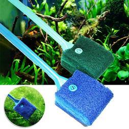 Aquarium Glass Cleaner Brush Scraper Algae Fish Tank Dust Cl
