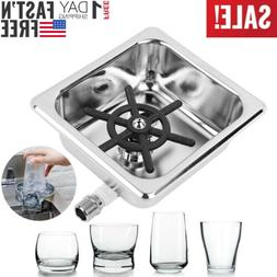 Automati Stainless Steel Cup Washer Cleaner Glass Rinser For