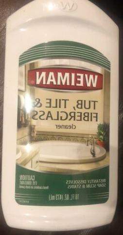 Weiman Bath Tub Cleaner - 16 Ounce - Fiberglass for Bathroom