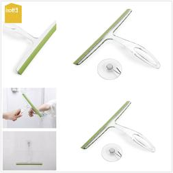 Ettori Bathroom Shower Squeegee Clear Acrylic Glass Wall Cle