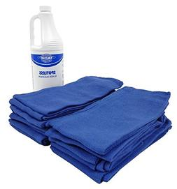 "Blue Surgical Rags/Towels 16""x24"" -  with Ready to Use Glass"