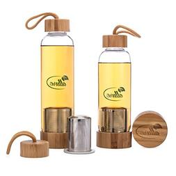 Allure Borosilicate Glass Bottle Tea Infuser 16 Oz / 12 Oz W