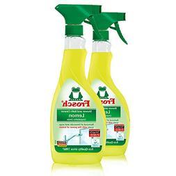 Frosch Natural Lemon Shower & Bathroom Cleaner Spray Bottle,