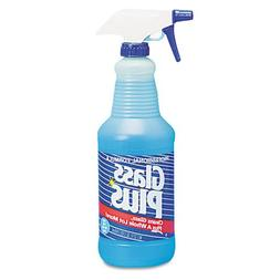 Glass Plus Glass Cleaner, 32 oz Trigger Spray Bottle - Inclu
