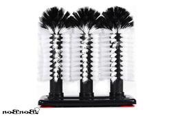 BonBon Commercial Grade Triple Brush Bar Glass Washer Cleane