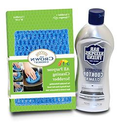 BAR KEEPERS FRIEND Cooktop Cleaner Kit  with Large Odor Free