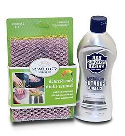 BAR KEEPERS FRIEND Cooktop Cleaner Kit. Liquid  and Non Scra