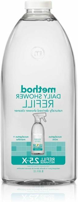 Method Daily Shower Spray Cleaner Refill, Eucalyptus Mint, 6