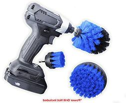 ORIGINAL Drill Brush 360 Attachments 3 pack kit -Blue All pu