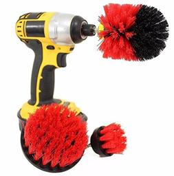 Joint Drill Brush Attachment 3 pack kit, Tile and Grout All