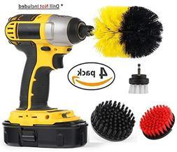 Drill Brush 4 Piece Attachment Set - All Purpose Drill Scrub