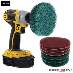 ATEKKi 4 Inch Drill Power Brush Tile Scrub Scouring Pads Cle