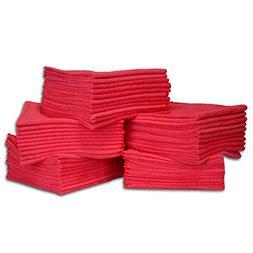 50 Pack Economy All Purpose Microfiber Towels - Microfiber W