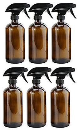 Greenline Organics 16 oz Empty Amber Glass Refillable Spray