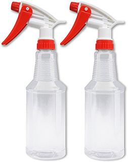 Empty Plastic Spray Bottles 16 oz, BPA-Free Food Grade, Crys