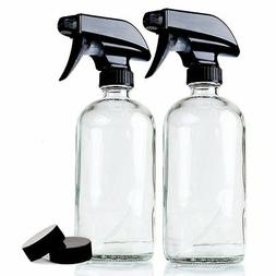 Empty Refillable 16 oz Glass Container for Homemade Cleaners
