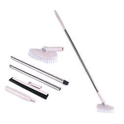 Floor Scrub Brush Removable Adjustable Long Handle -Tile/ Tu