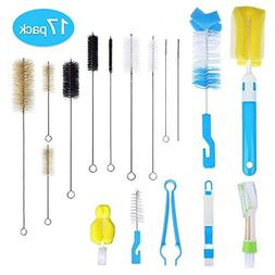 17Pcs Food Grade Multipurpose Cleaning Brush Set,Lab Cleanin