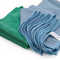 Microfiber Glass Cleaning Cloths - 8 Pack | Lint Free - Stre