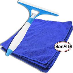 bogo Brands Window Shower Cleaning Squeegee Built-In Spray B